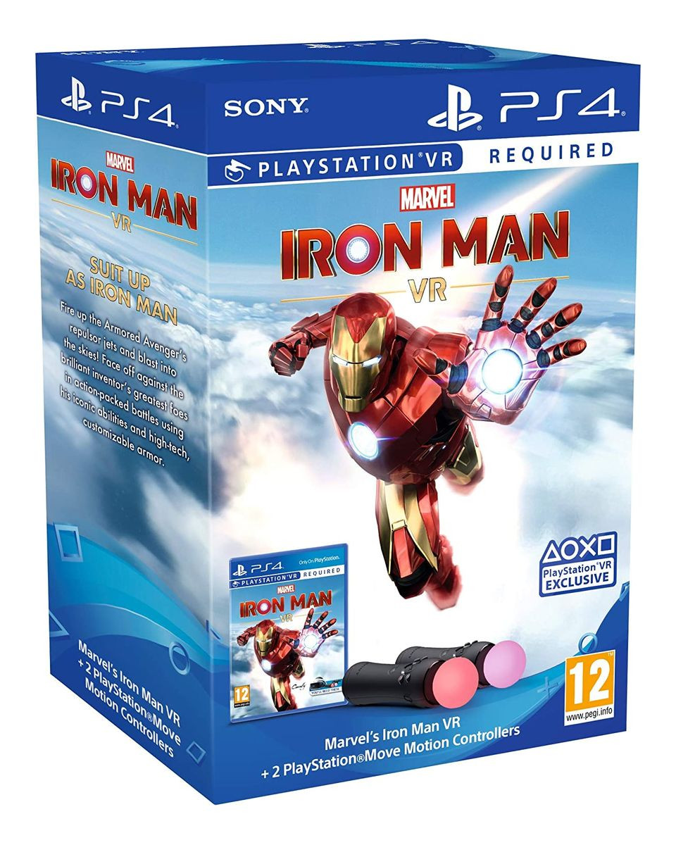 Playstation Move Motion Twin Pack + Marvel's Iron Man VR