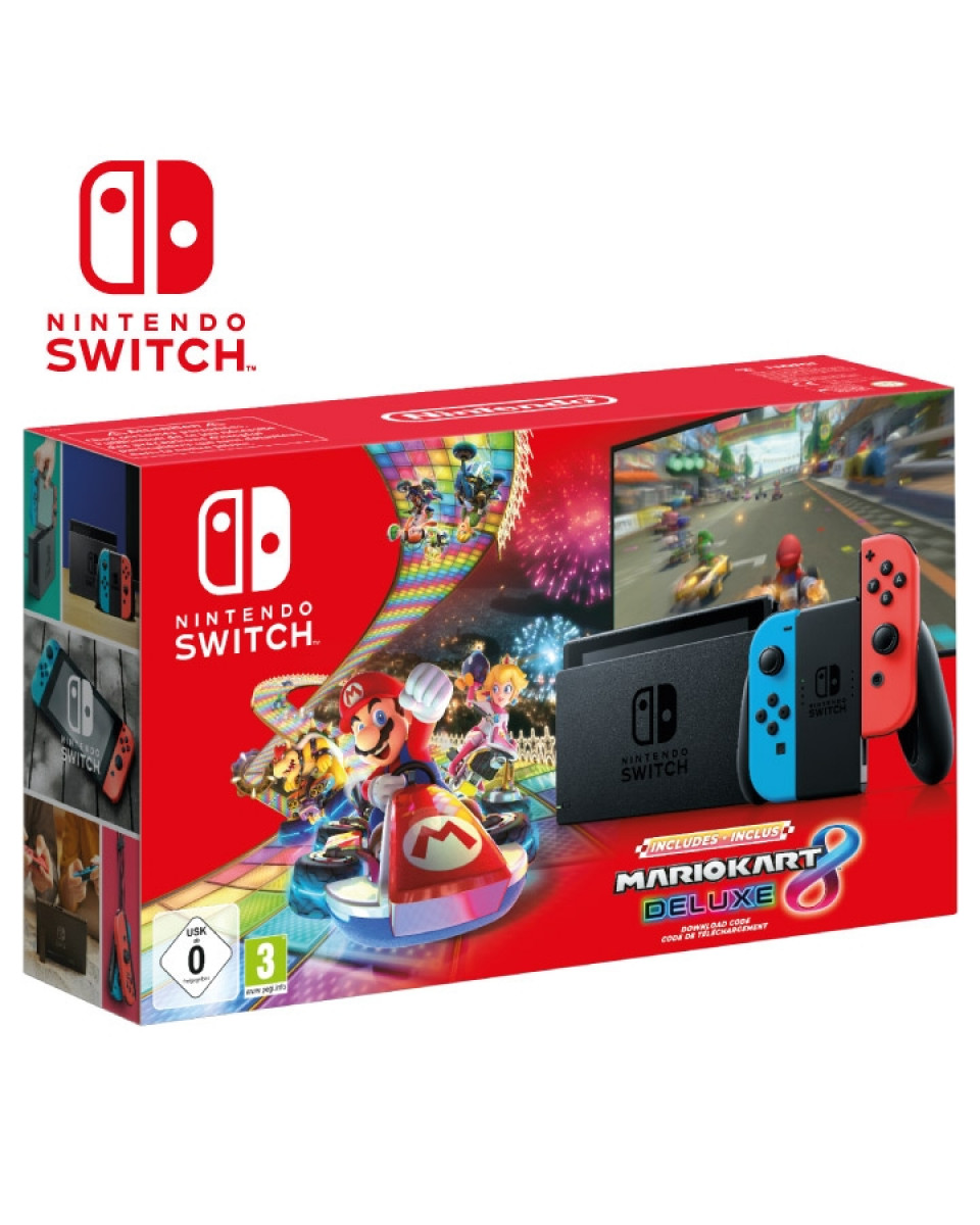 Konzola Nintendo Switch (Red and Blue Joy-Con) + Mario Kart 8 Deluxe Edition