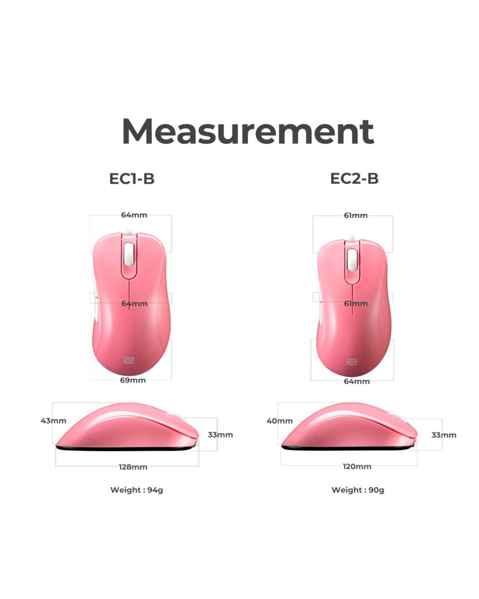 Miš Zowie S1 DIVINA Pink - White