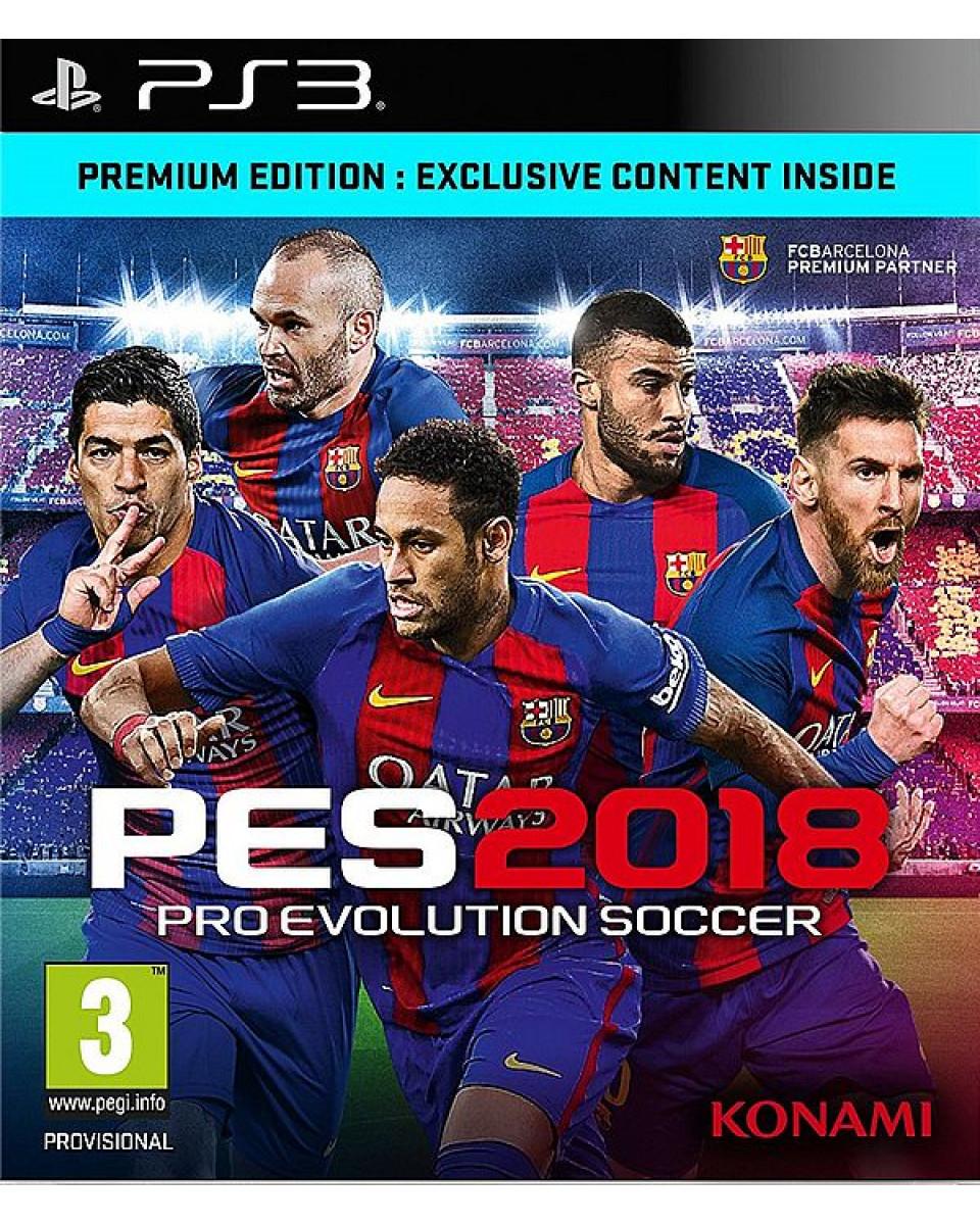 PS3 Pro Evolution Soccer 2018 - PES 2018