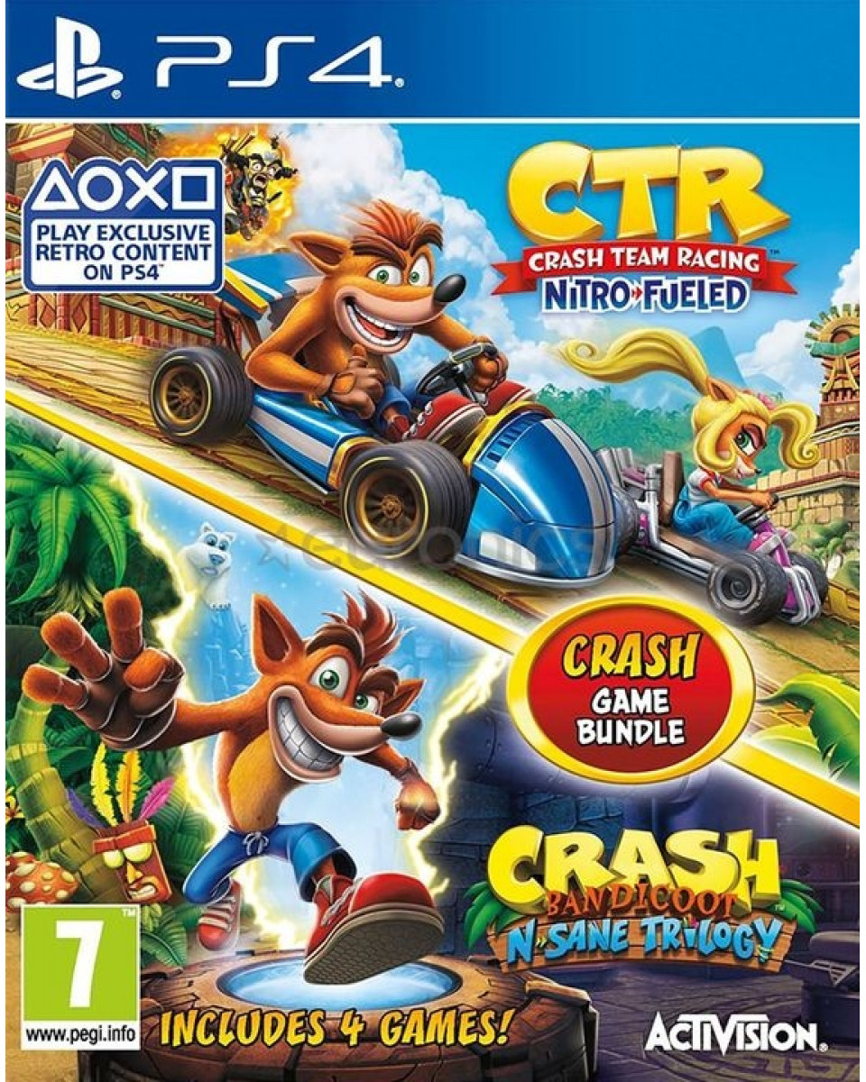 PS4 Crash Team Racing - Nitro Fueled & Crash Bandicoot - N'Sane Trilogy