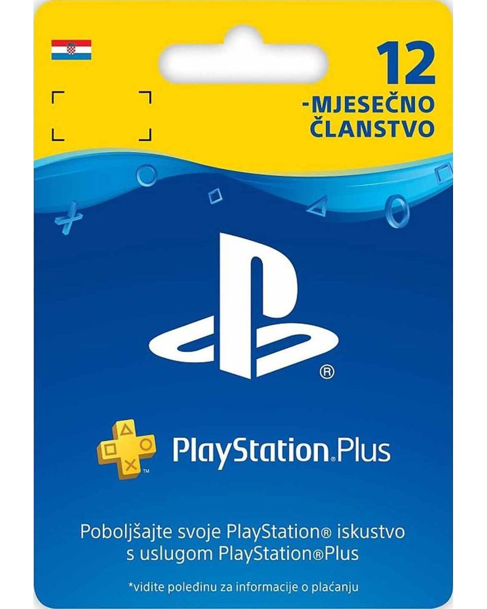 Playstation Plus PSN pretplata - 12 meseci HR